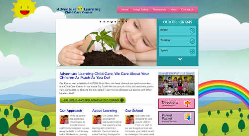 Adventure Learning Care Website