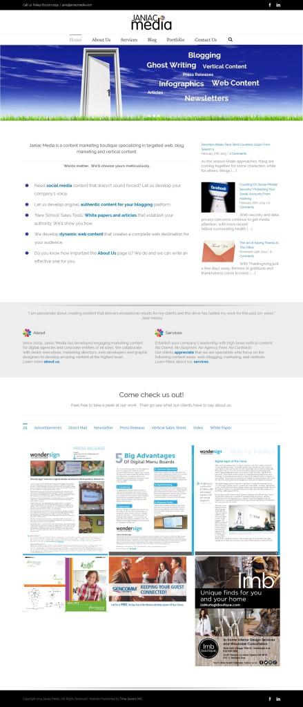 Janiac Media Home Page Snip