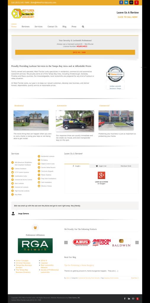 west fl locks home page snip